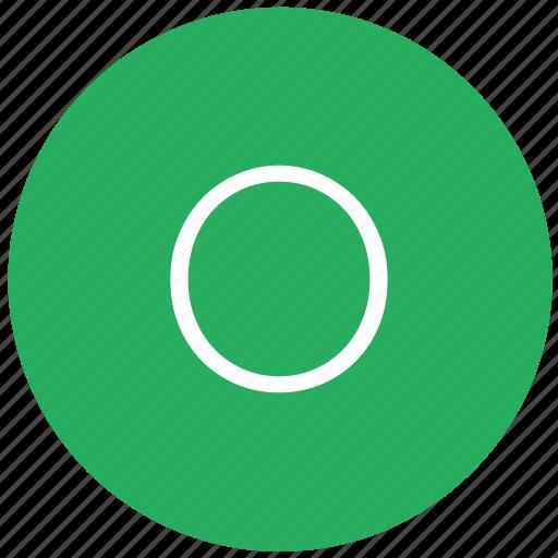 green, key, keyboard, letter, o icon