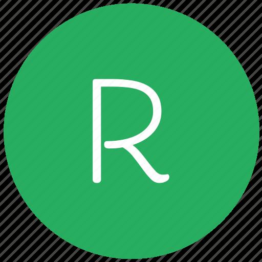 green, key, keyboard, letter, r icon