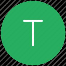 green, key, keyboard, letter, t icon