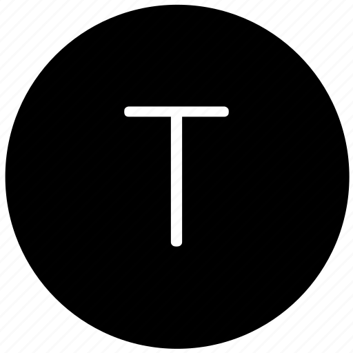 key, keyboard, letter, round, t icon