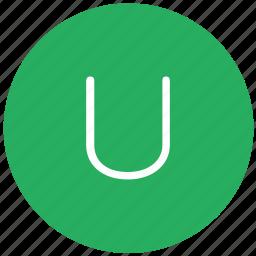 green, key, keyboard, letter, u icon