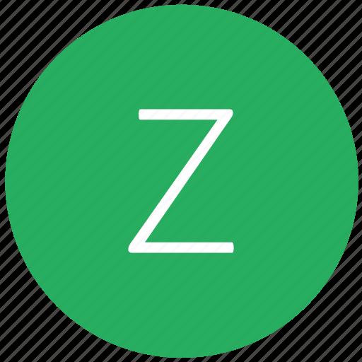 green, key, keyboard, letter, z icon