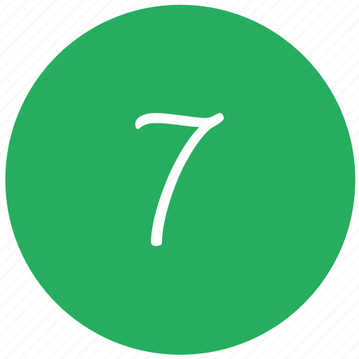 green, keyboard, number, seven icon