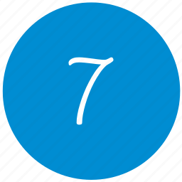 keyboard, number, round, seven icon