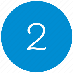 key, number, round, two icon