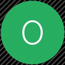 green, keyboard, number, zero icon