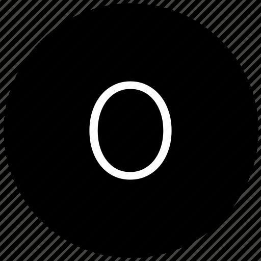 keyboard, number, round, zero icon
