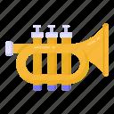 musical instrument, cornet, trumpet, brass, wind instrument