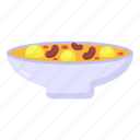 meal bowl, food bowl, bouillon, porridge, edible icon