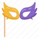 party mask, masquerade mask, eye prop, carnival masquerade mask, festive mask icon