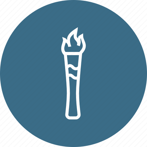 fire, flame, light, olympic, parade, torch, tradition icon