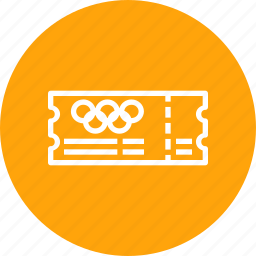 entry, event, olympic, pass, schedule, ticket icon