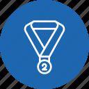 award, medal, position, reward, runnersup, second, winner icon