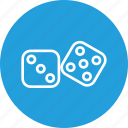 bet, casino, dice, dices, gamble, gambling, game icon