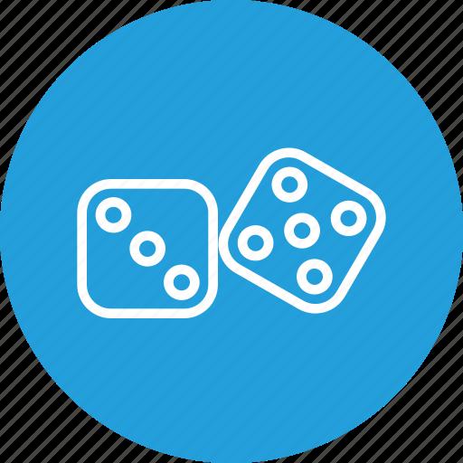 bet, casino, dice, dices, gamble, gambling, game icon
