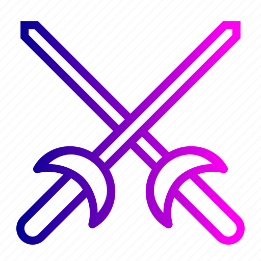 Equipment, fence, fencing, game, olympics, sports, sword icon - Download on Iconfinder