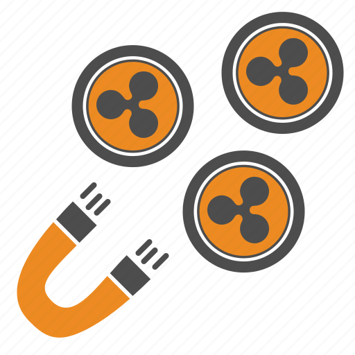 attraction, magnet, ripple icon