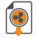 download, ripple, document, blockchain, documentation icon