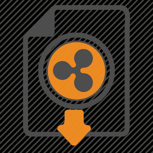 blockchain, document, documentation, download, ripple icon