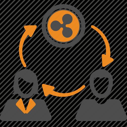 assignment, blockchain, money, ripple, transfer icon