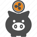ripple, backup, save, blockchain icon