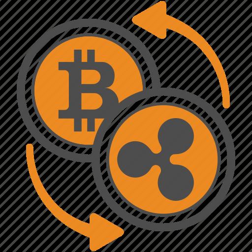 Ripple, transfer, bitcoin, bitcoins icon
