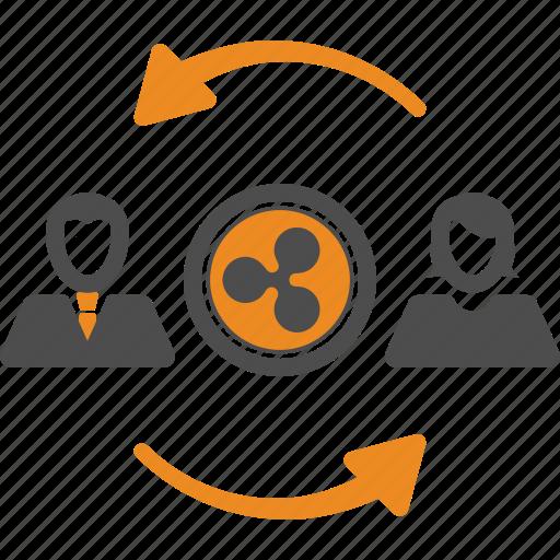 assignment, blockchain, ripple, transfer icon