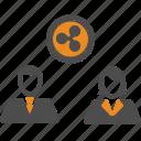 ripple, assignment, blockchain, transfer icon