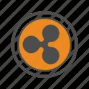 ripple, bitcoins, blockchain, bitcoin, crypto icon