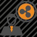 bitcoin, bitcoins, blockchain, crypto, ripple icon