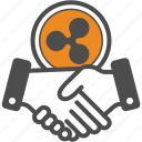 bitcoin, bitcoins, contract, deal, ripple icon