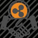 ripple, contract, bitcoin, deal, bitcoins icon