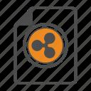 bitcoin, bitcoins, blockchain, cocumentation, document, ripple icon