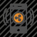 app, bitcoin, bitcoins, mobile, ripple icon