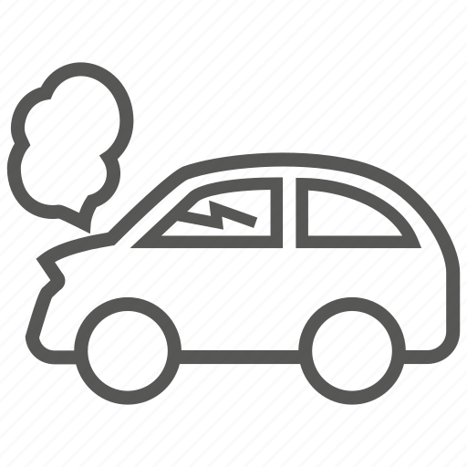 accident, automobile, car, collide, crash, problem, transport icon