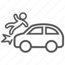 accident, car, crash, hazard, problem, risk, vehicle icon