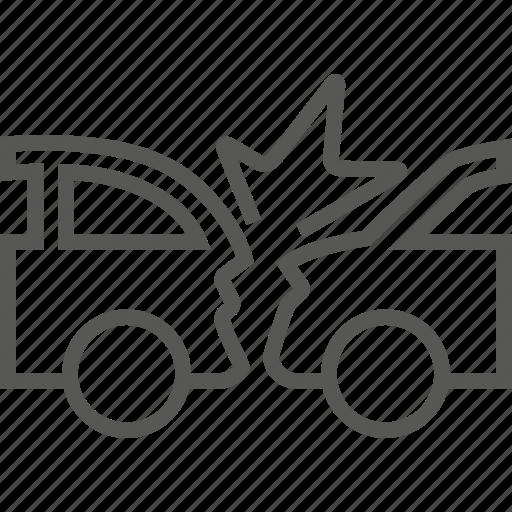 auto, automobile, car, collide, collision, transportation icon