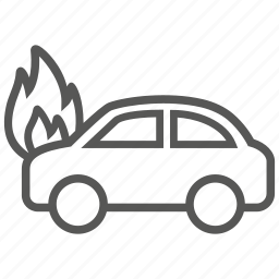 car, fire, flame, transport, vehicle icon