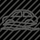 car, flood, sink, water