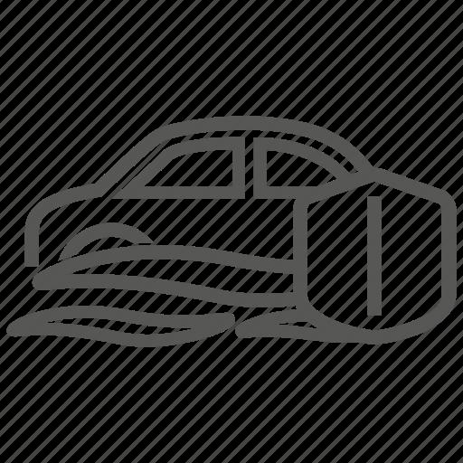 auto, car, flood, insurance, transport, transportation icon