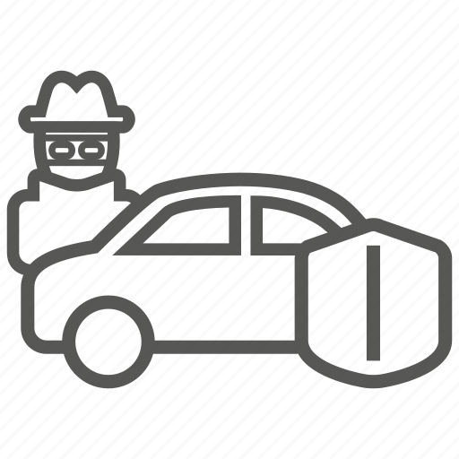 car, crime, insurance, steal, theft, vandalism icon