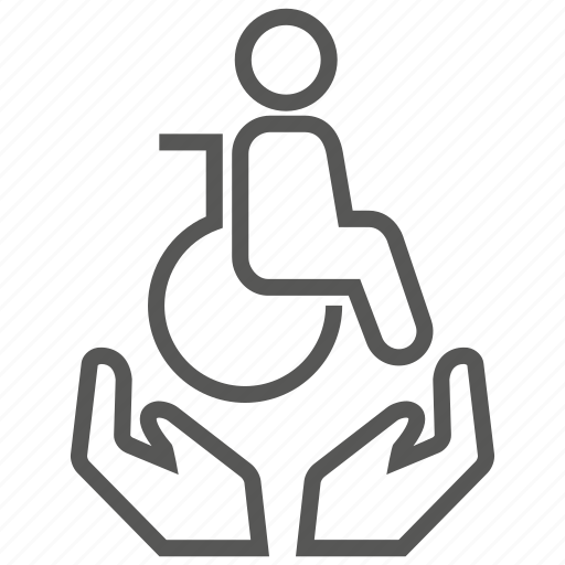 care, disability, disabled, insurance, protection icon