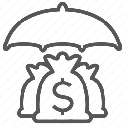 business, dollar, insurance, investment, money, protection icon