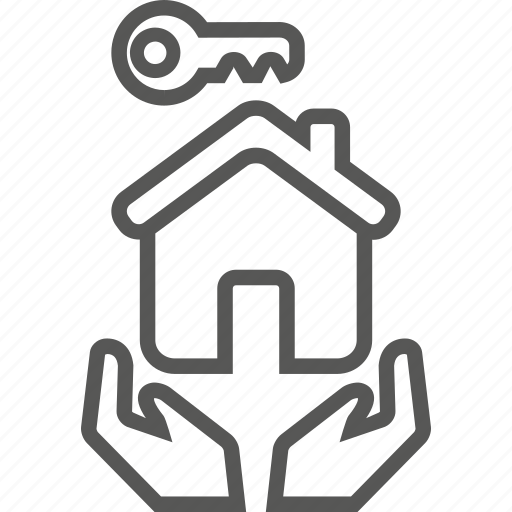 building, care, home, key, landlord icon