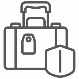 bag, baggage, insurance, luggage, protection, suitcase icon