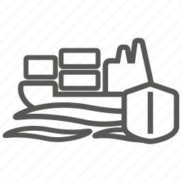 good, insurance, marine, nautical, protection, security, ship icon