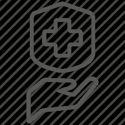 health, hospital, medical, medicine, protection, security icon