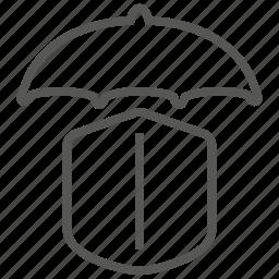 insurance, protection, shield, umbrella icon