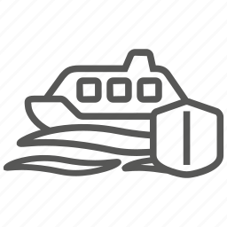 boat, insurance, sea, ship, vessel, yacht icon