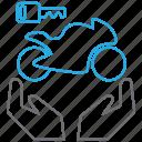 bike, buy, key, owner icon